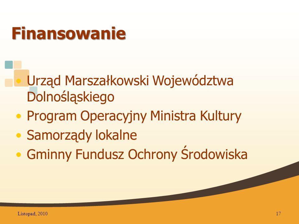 Finansowanie Urząd Marszałkowski Województwa Dolnośląskiego
