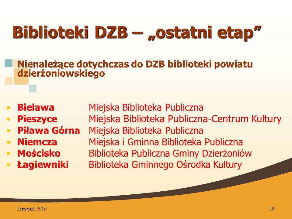 """Biblioteki DZB – """"ostatni etap"""