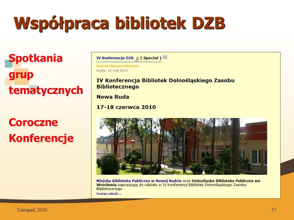 Współpraca bibliotek DZB