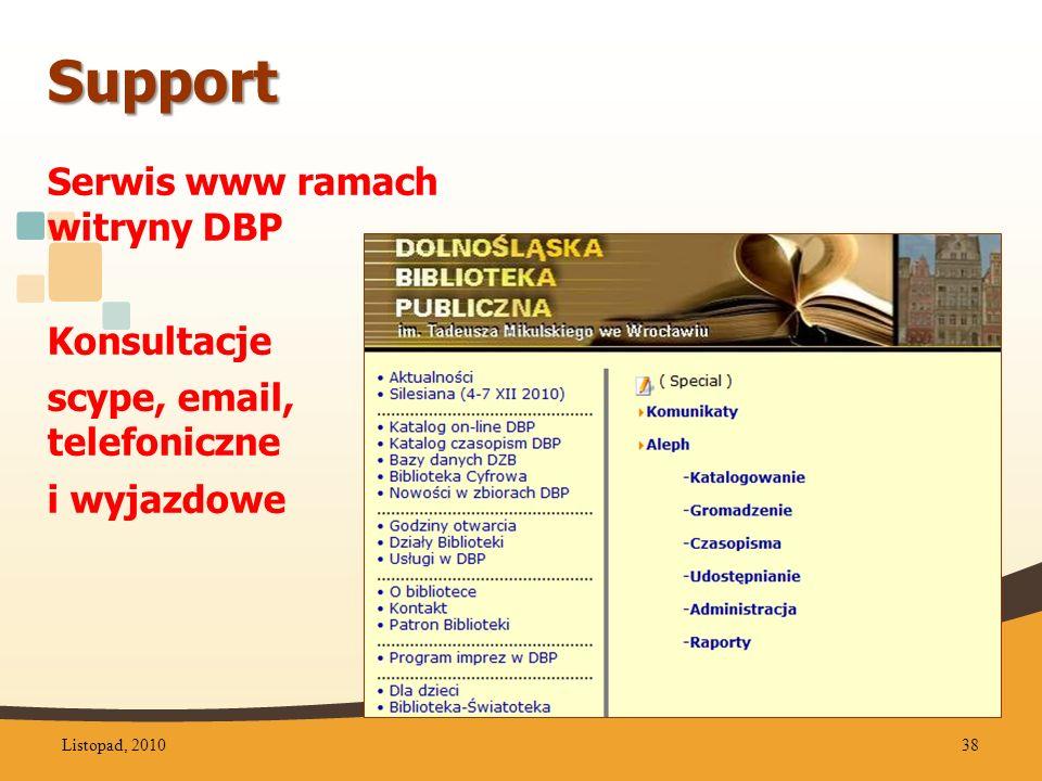 Support Serwis www ramach witryny DBP Konsultacje