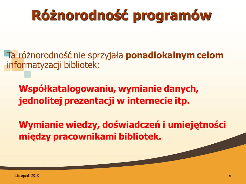 Różnorodność programów
