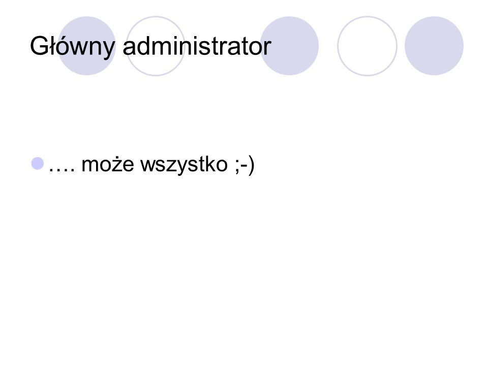 Główny administrator …. może wszystko ;-)
