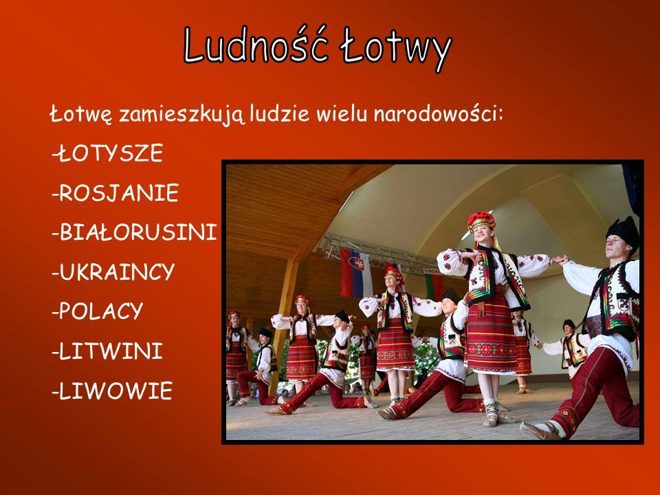 Ludność Łotwy Łotwę zamieszkują ludzie wielu narodowości: -ŁOTYSZE