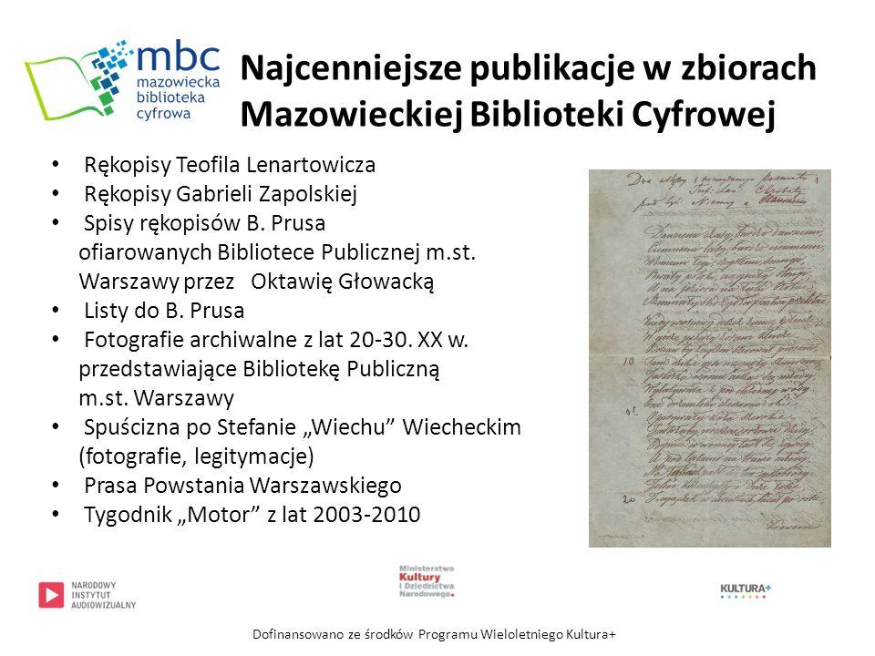 Najcenniejsze publikacje w zbiorach Mazowieckiej Biblioteki Cyfrowej