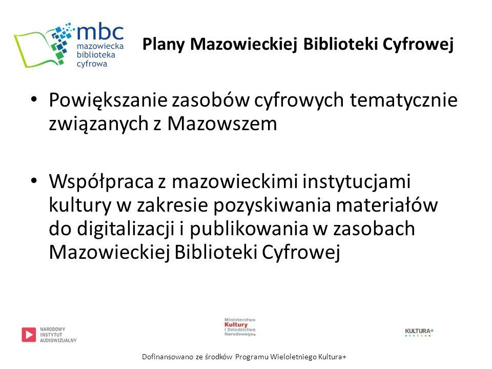 Powiększanie zasobów cyfrowych tematycznie związanych z Mazowszem