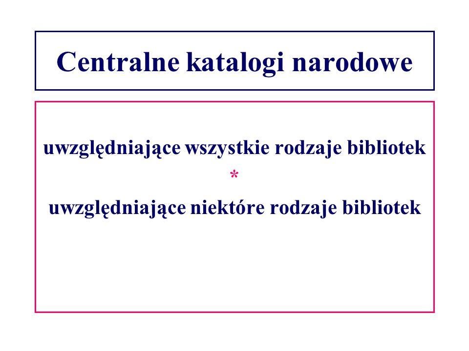 Centralne katalogi narodowe