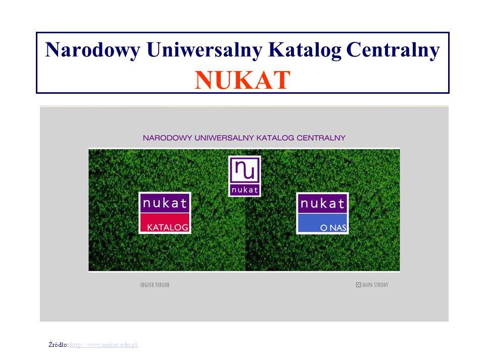 Narodowy Uniwersalny Katalog Centralny NUKAT