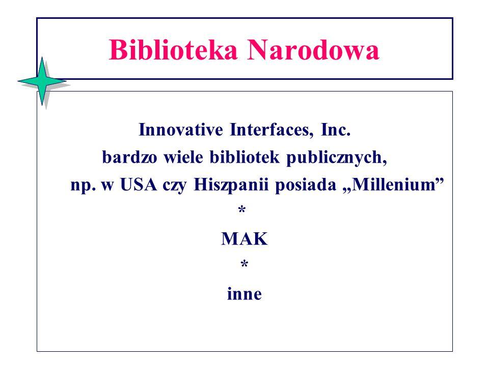 Innovative Interfaces, Inc. bardzo wiele bibliotek publicznych,