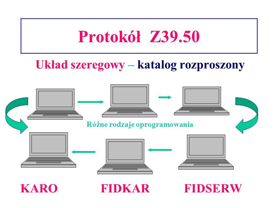 Układ szeregowy – katalog rozproszony Różne rodzaje oprogramowania
