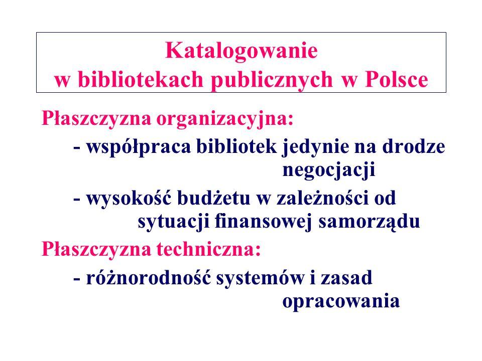 Katalogowanie w bibliotekach publicznych w Polsce