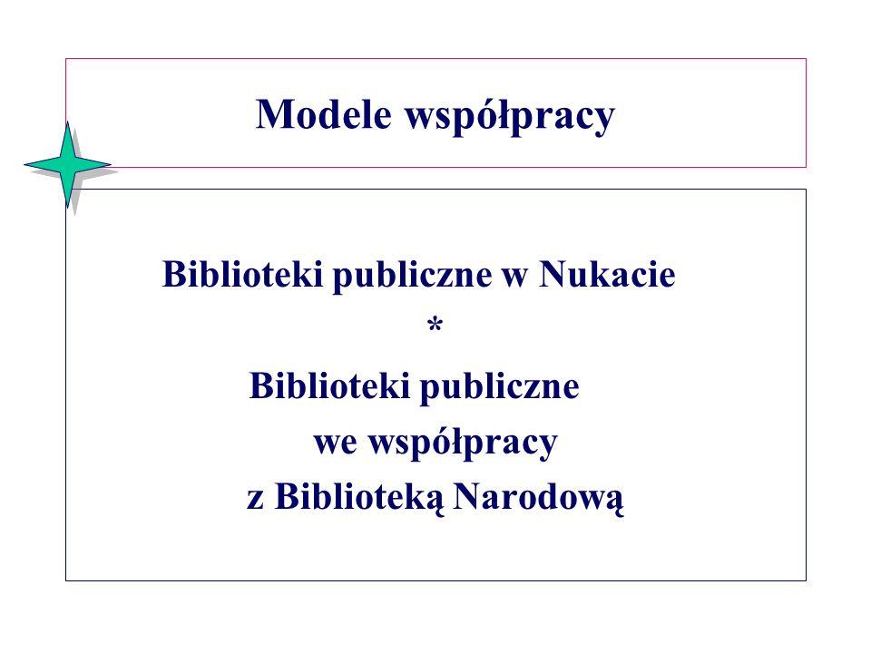 Modele współpracy Biblioteki publiczne w Nukacie *