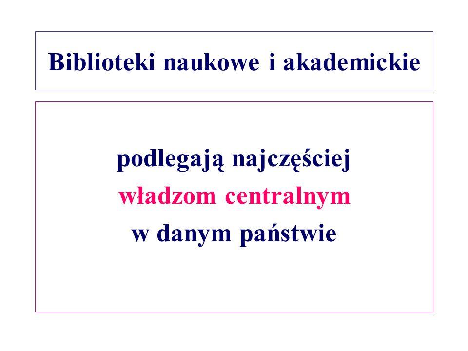 Biblioteki naukowe i akademickie