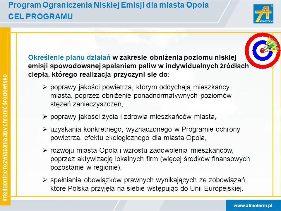 Program Ograniczenia Niskiej Emisji dla miasta Opola CEL PROGRAMU