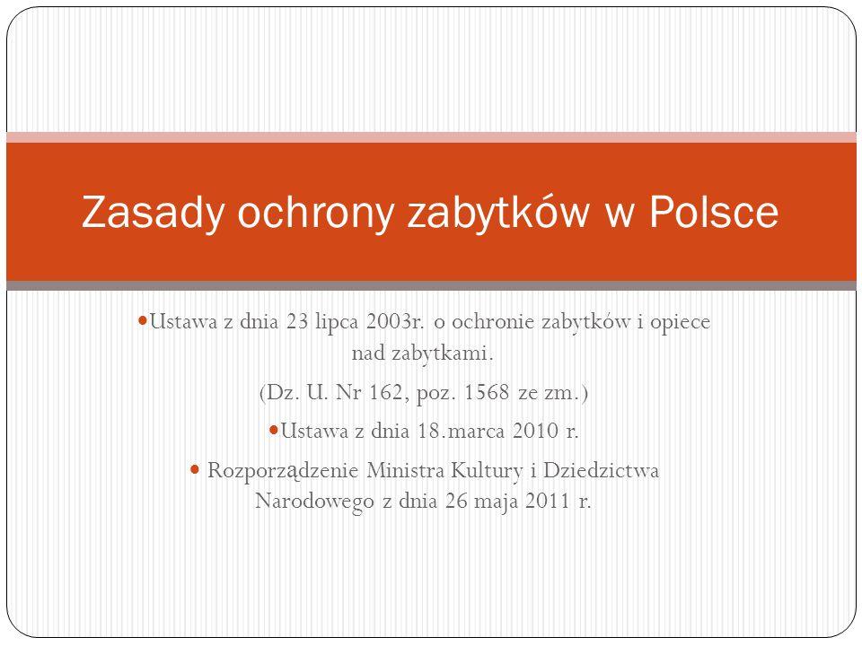 Zasady ochrony zabytków w Polsce