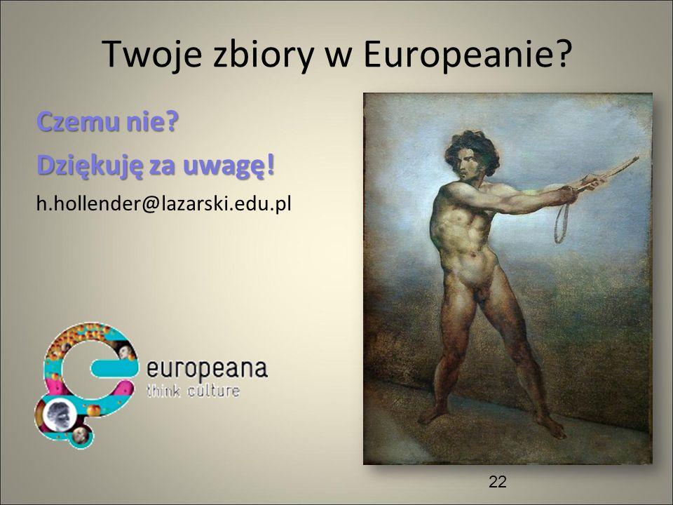 Twoje zbiory w Europeanie