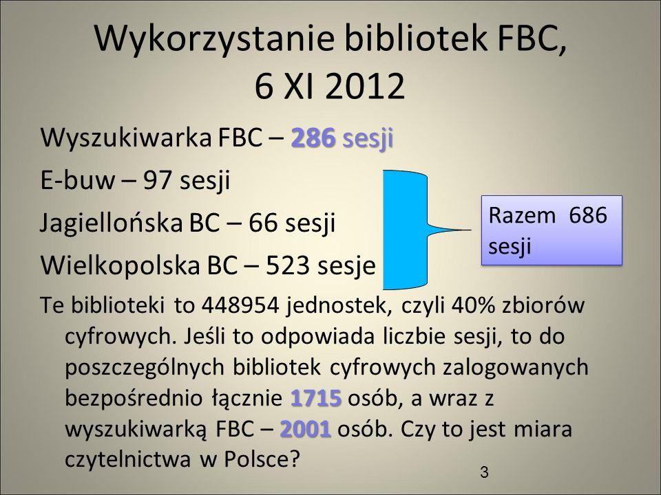 Wykorzystanie bibliotek FBC, 6 XI 2012