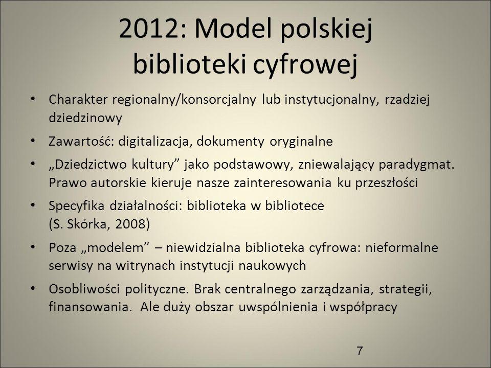 2012: Model polskiej biblioteki cyfrowej
