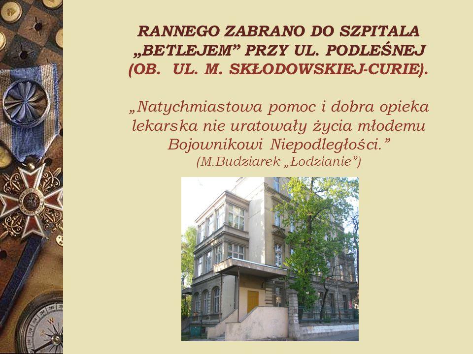 """(M.Budziarek """"Łodzianie )"""