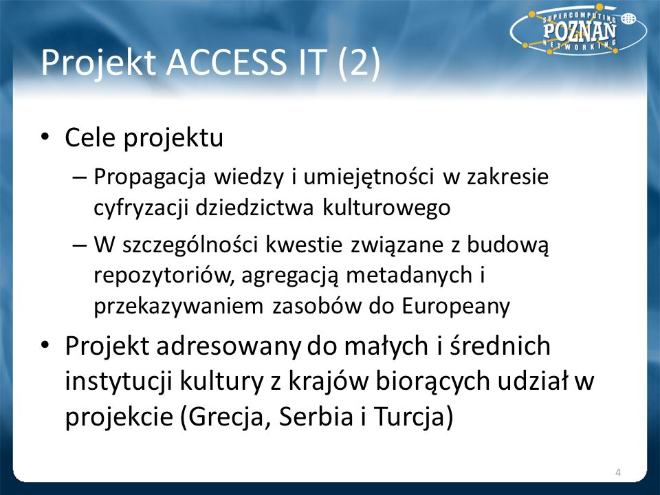 Projekt ACCESS IT (2) Cele projektu