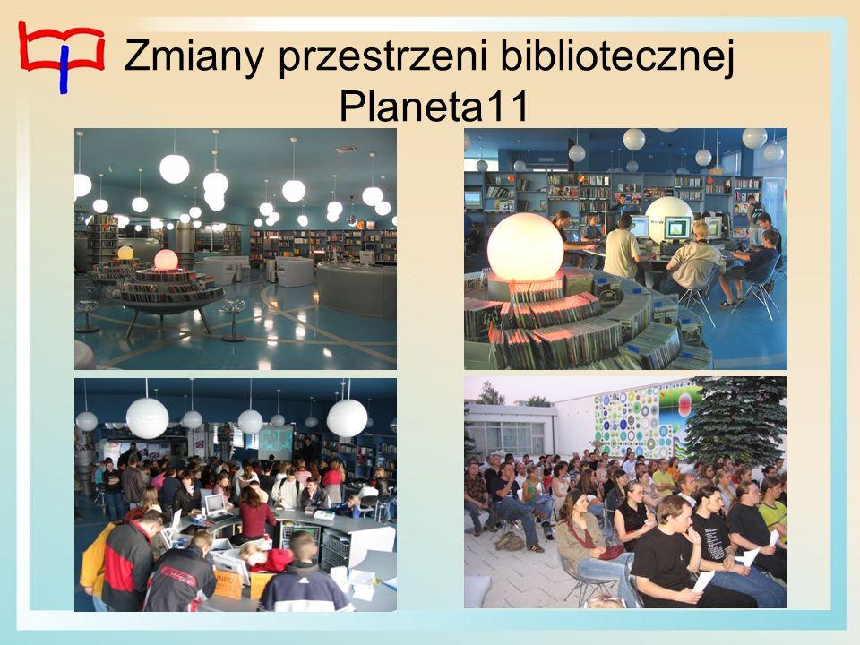 Zmiany przestrzeni bibliotecznej Planeta11