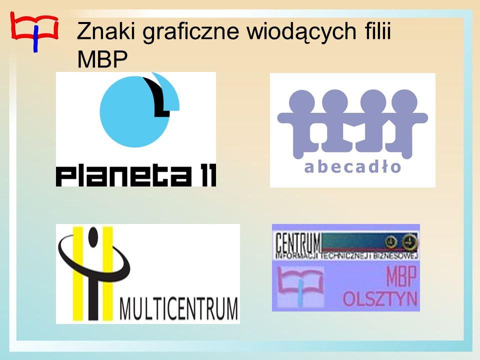 Znaki graficzne wiodących filii MBP