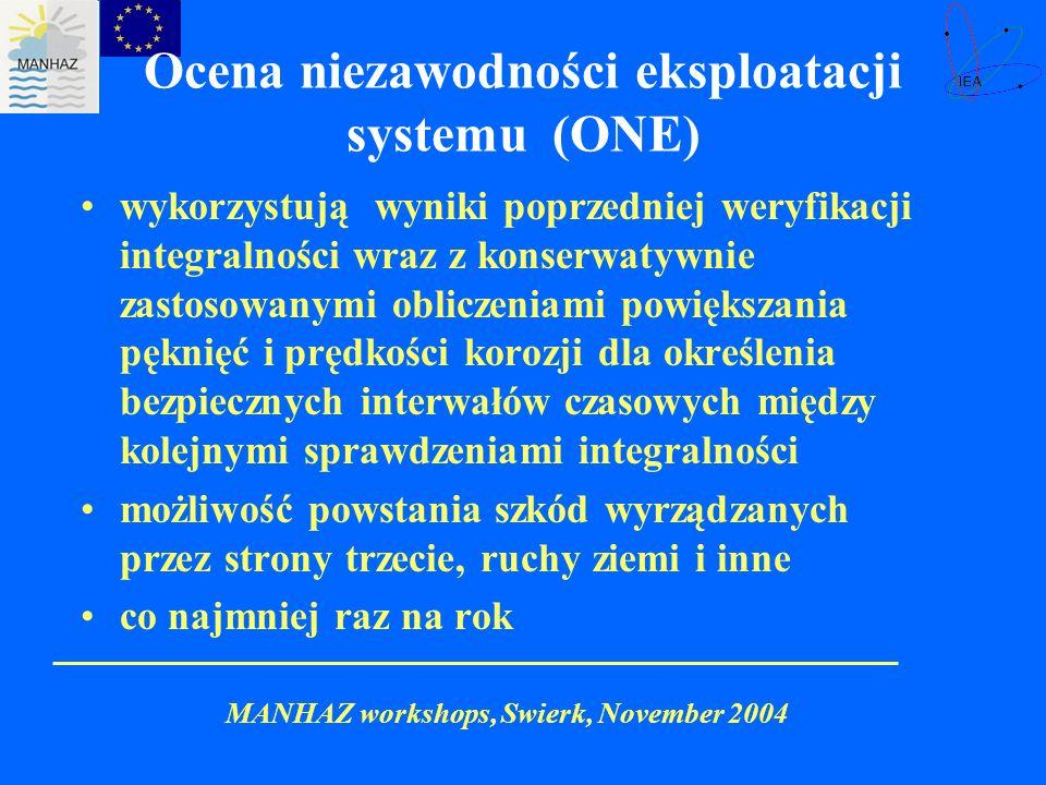 Ocena niezawodności eksploatacji systemu (ONE)
