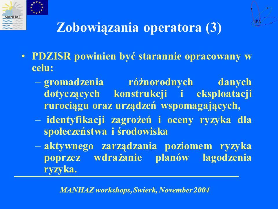 Zobowiązania operatora (3)