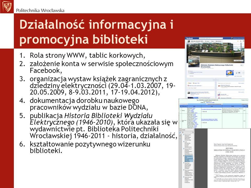 Działalność informacyjna i promocyjna biblioteki