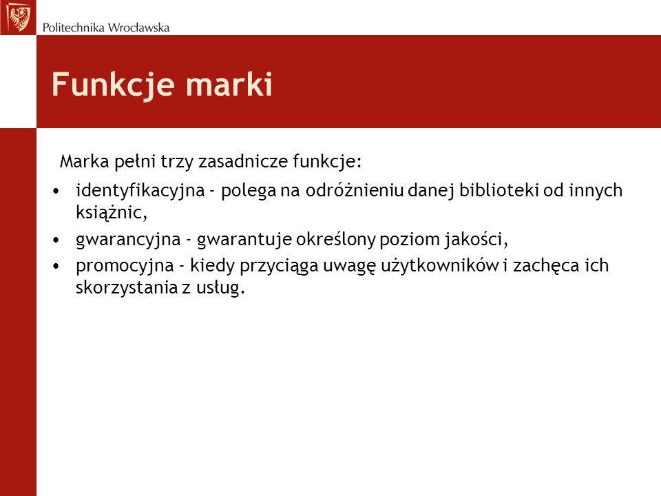 Funkcje marki Marka pełni trzy zasadnicze funkcje: