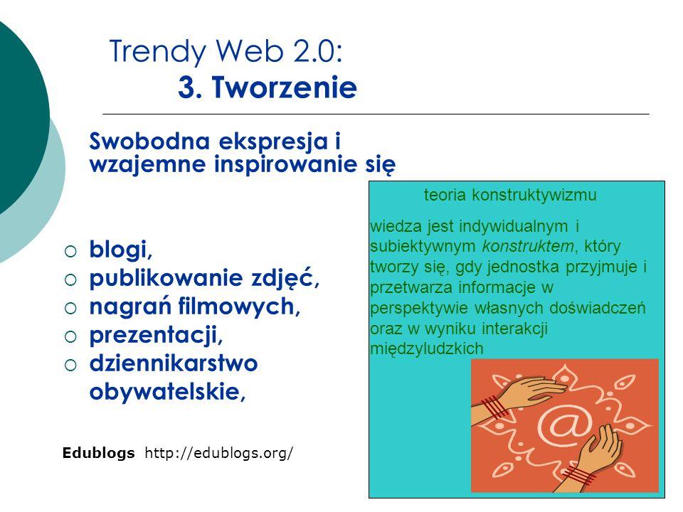 Trendy Web 2.0: 3. Tworzenie blogi, publikowanie zdjęć,