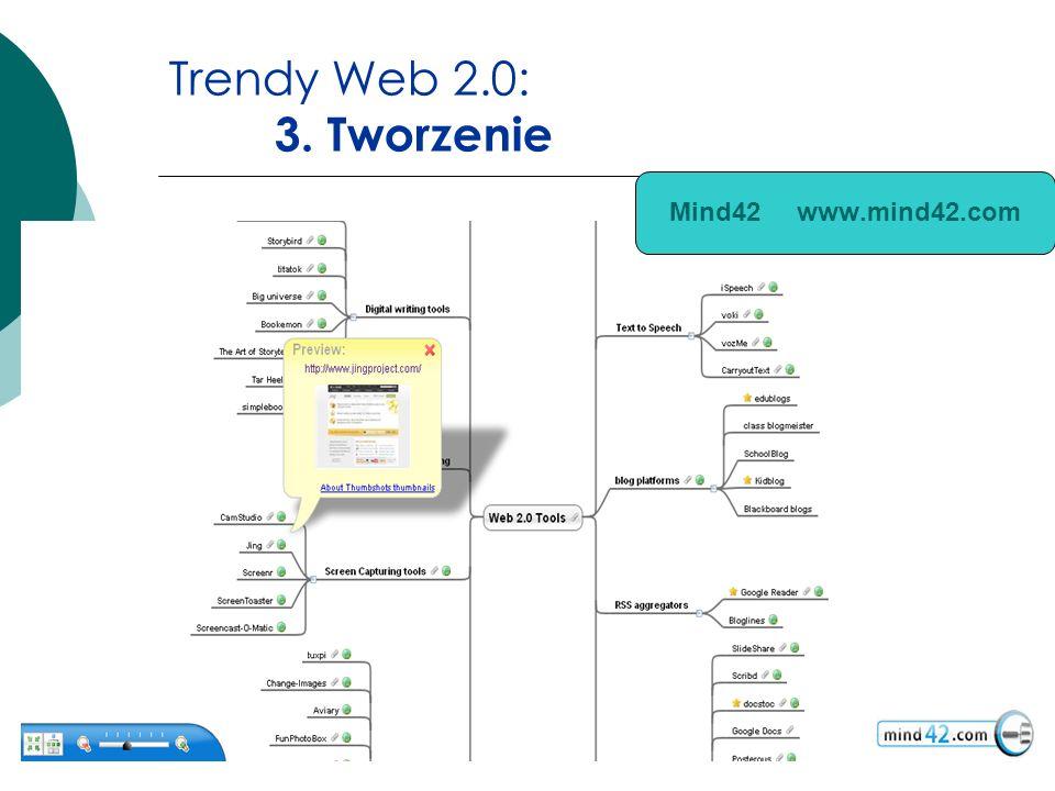 Trendy Web 2.0: 3. Tworzenie Mind42 www.mind42.com
