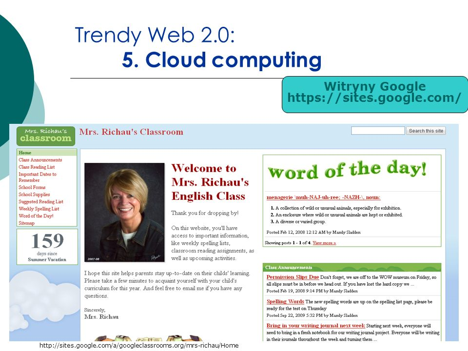 Trendy Web 2.0: 5. Cloud computing