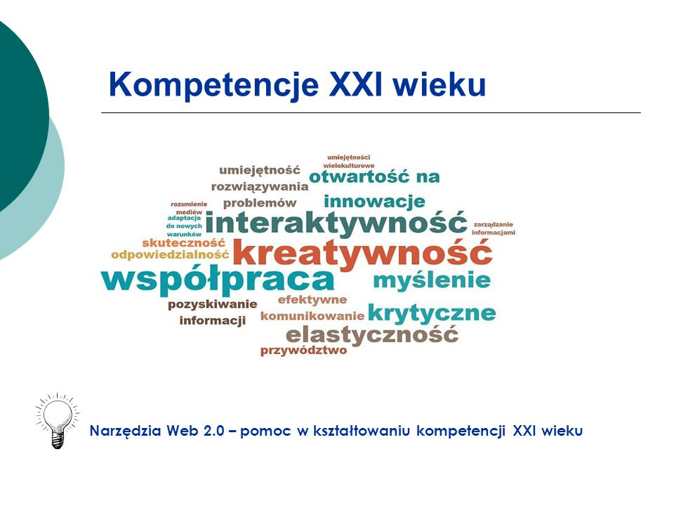 Kompetencje XXI wieku Narzędzia Web 2.0 – pomoc w kształtowaniu kompetencji XXI wieku