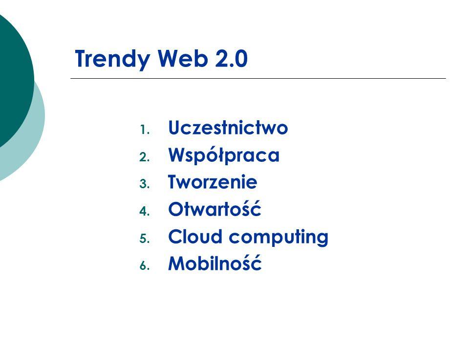 Trendy Web 2.0 Uczestnictwo Współpraca Tworzenie Otwartość