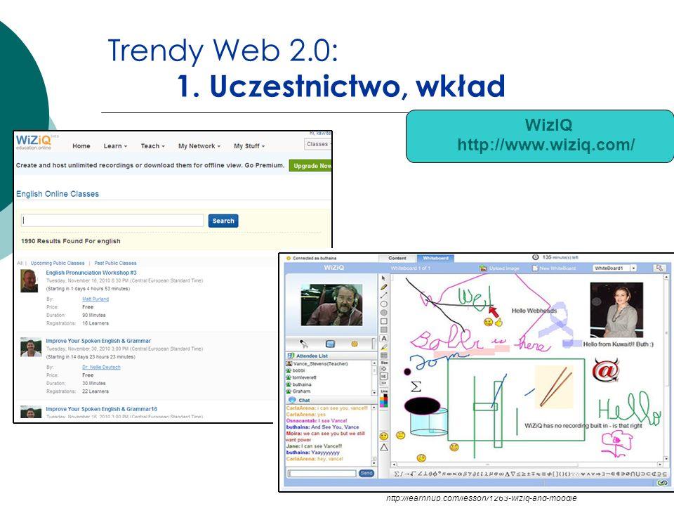 Trendy Web 2.0: 1. Uczestnictwo, wkład