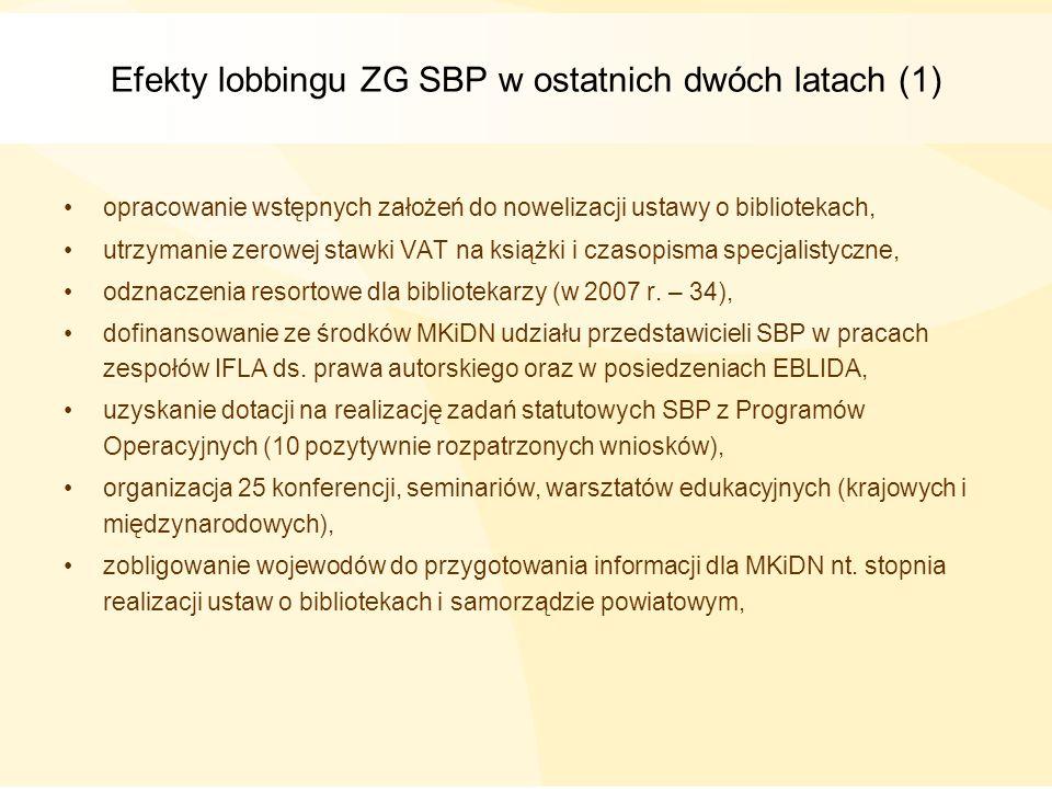Efekty lobbingu ZG SBP w ostatnich dwóch latach (1)