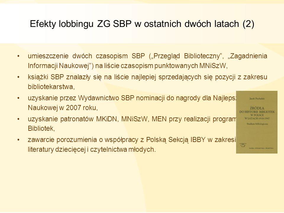 Efekty lobbingu ZG SBP w ostatnich dwóch latach (2)