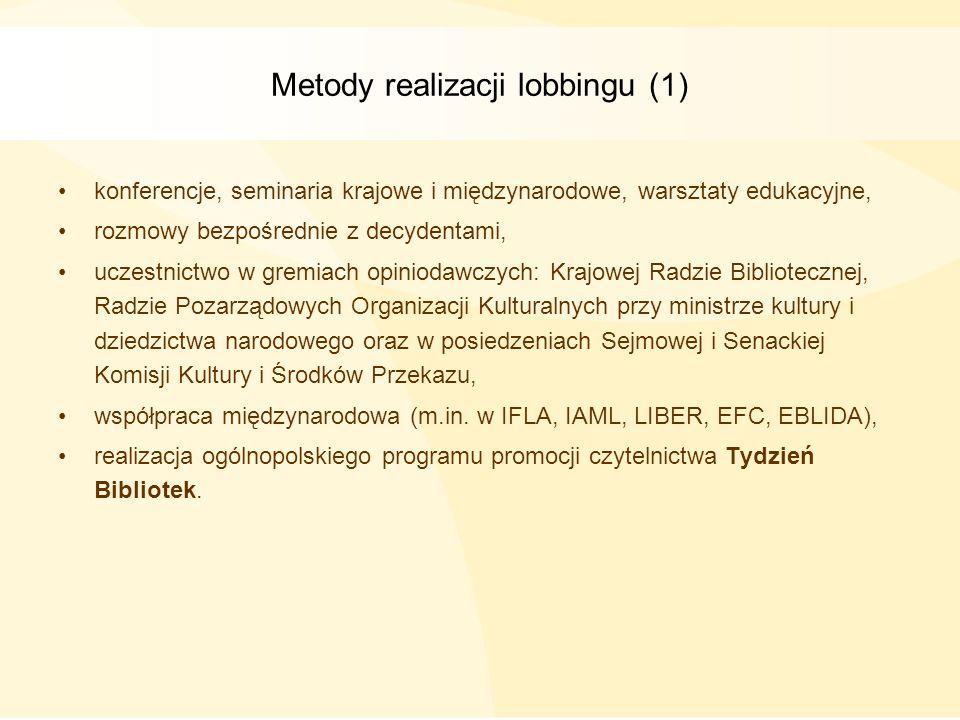 Metody realizacji lobbingu (1)