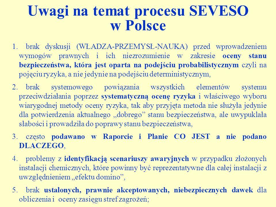 Uwagi na temat procesu SEVESO w Polsce