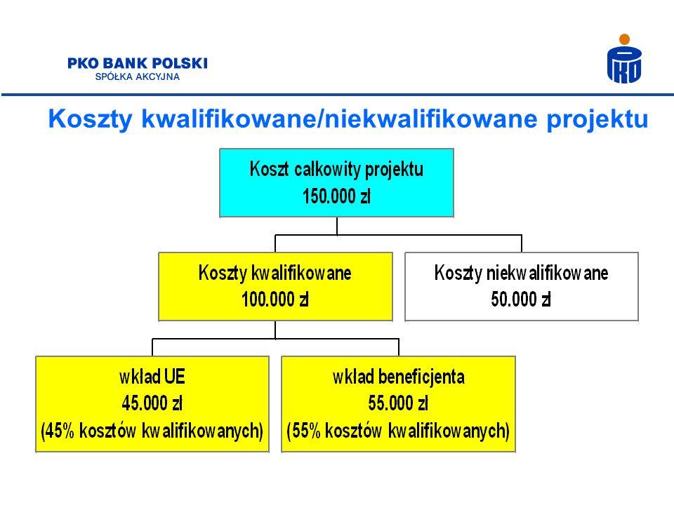 Koszty kwalifikowane/niekwalifikowane projektu