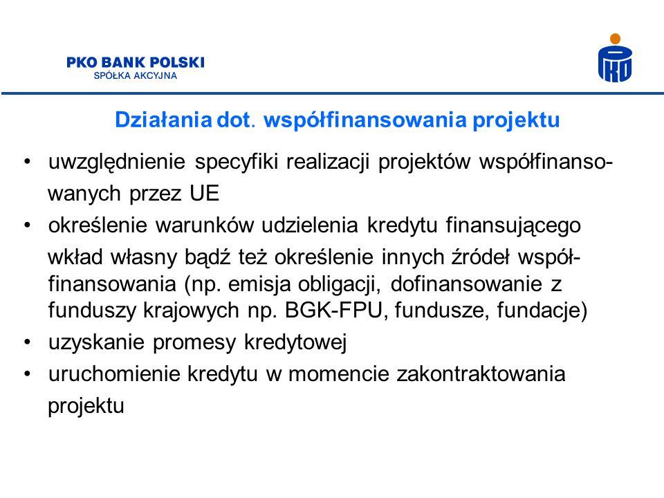 Działania dot. współfinansowania projektu