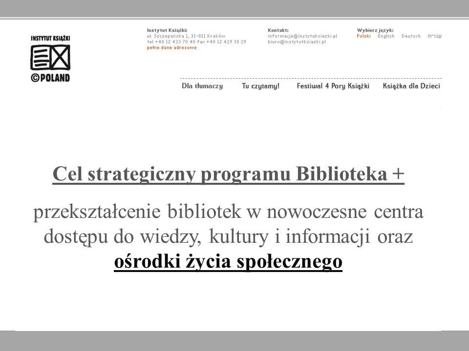 Cel strategiczny programu Biblioteka +
