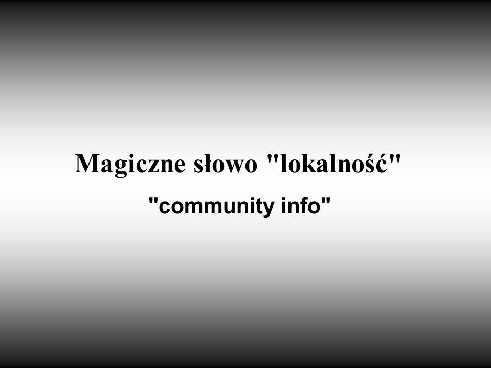 Magiczne słowo lokalność
