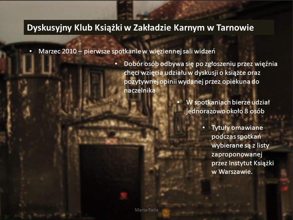 Dyskusyjny Klub Książki w Zakładzie Karnym w Tarnowie