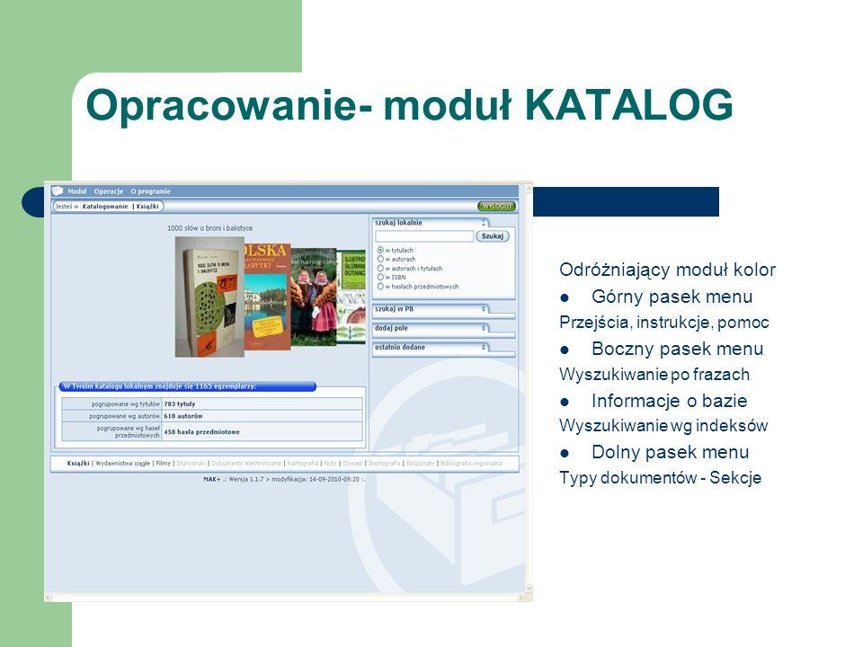 Opracowanie- moduł KATALOG