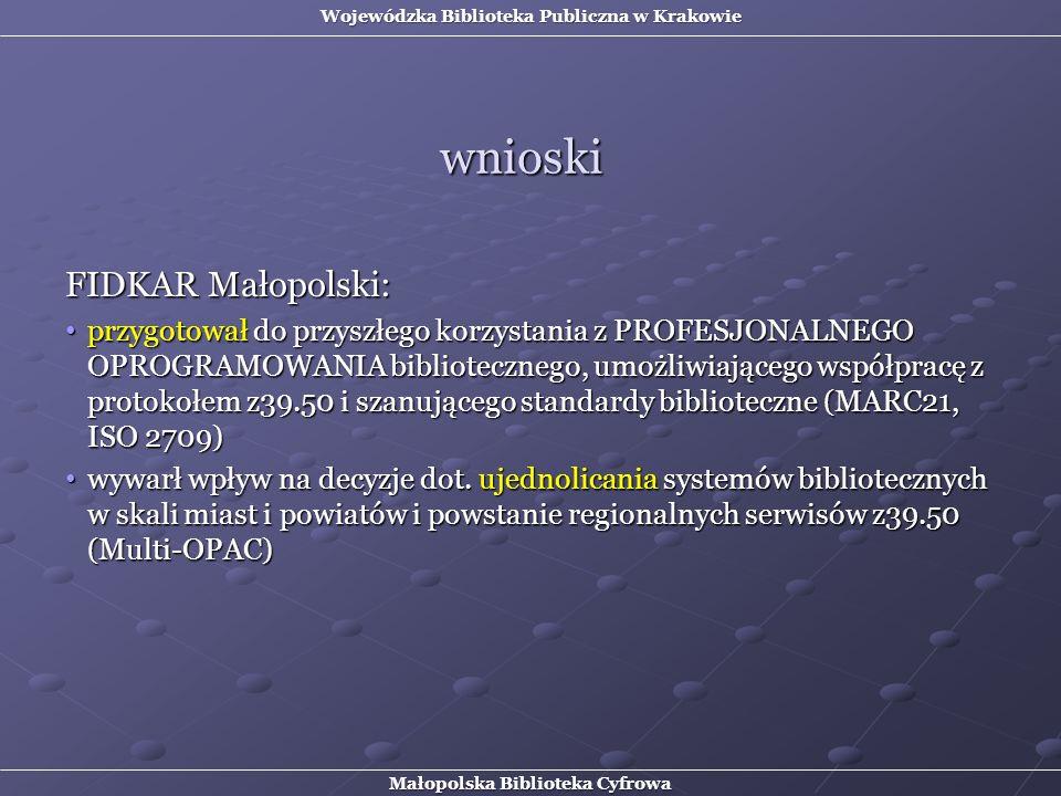 wnioski FIDKAR Małopolski: