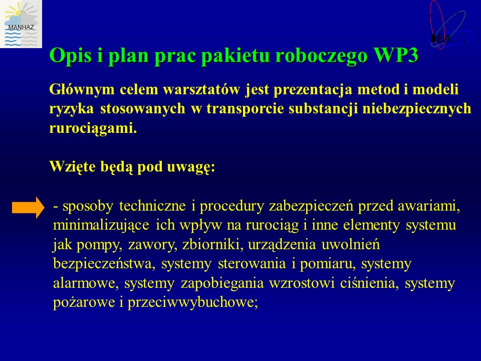 Opis i plan prac pakietu roboczego WP3