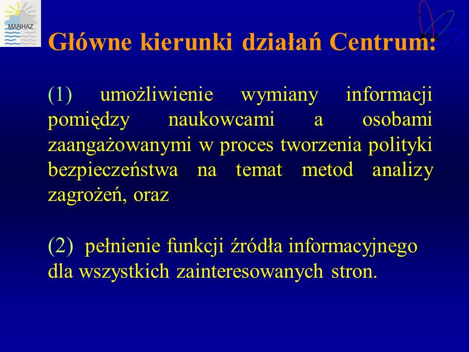 Główne kierunki działań Centrum:
