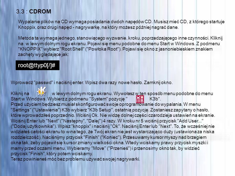 3.3 : CDROM