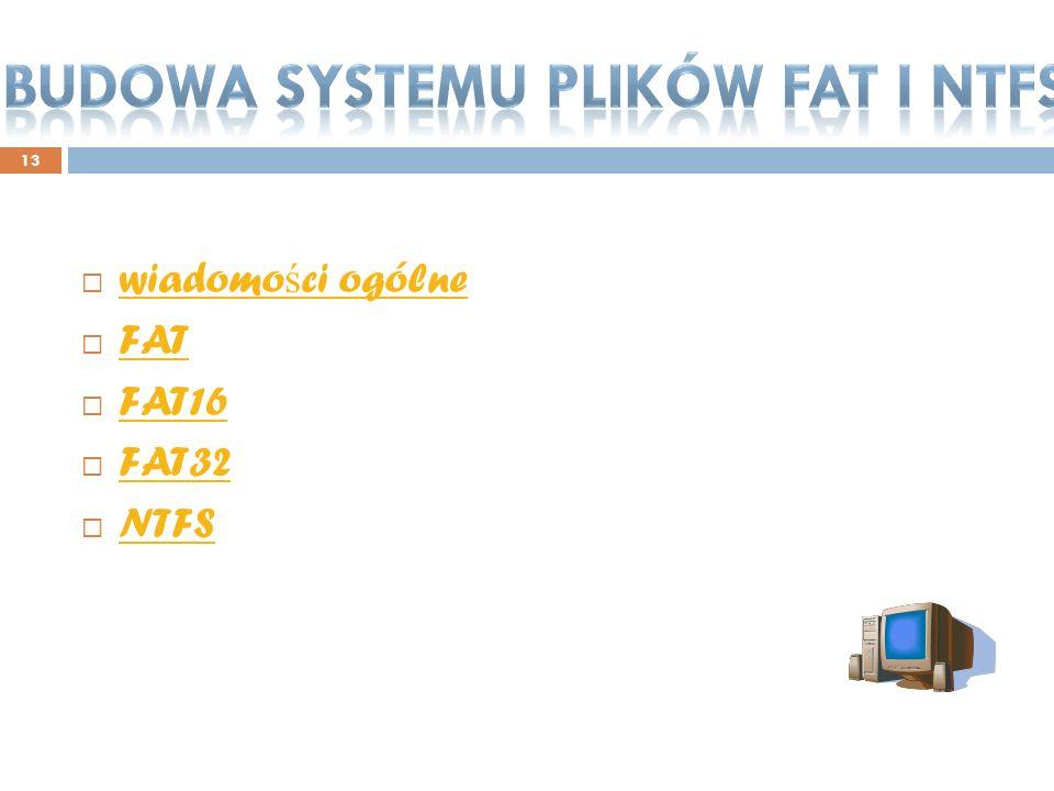 Budowa systemu plików fat i ntfs